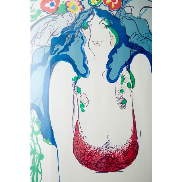"""Flowers in Her Hair,"" Frank Gallo Signed Serigraph For Sale In Atlanta - Image 6 of 9"