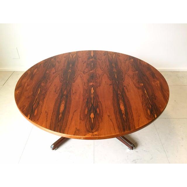 Danish Modern Rosewood Circular Coffee Table - Image 5 of 6