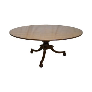 Jonathan Charles Round Walnut Dining Table For Sale