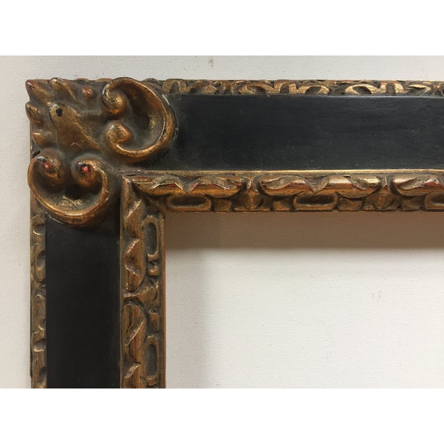 Great Vintage Picasso Style Carved Wood Frame - Image 4 of 7