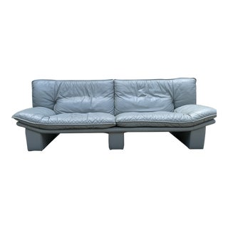 Vintage Italian Leather Sofa by Nicoletti Salotti For Sale