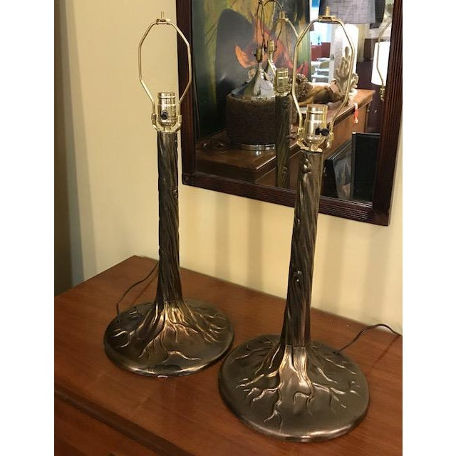 Pair Vintage Tree Form Lamps For Sale - Image 4 of 8