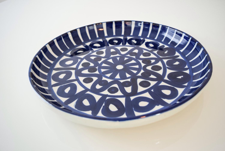 Dansk Mid Century Danish Modern Blue Ceramic Platter - Image 3 of 6  sc 1 st  Chairish & Dansk Mid Century Danish Modern Blue Ceramic Platter | Chairish