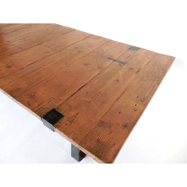 Reclaimed Wood Table For Sale - Image 4 of 8