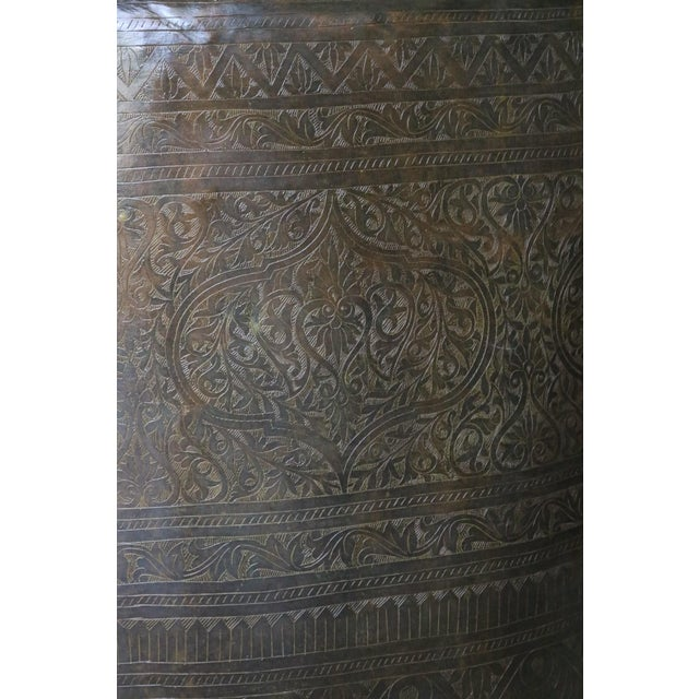 Incised Brass Planter from India