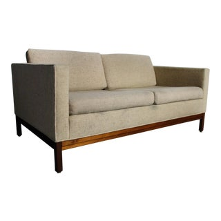 Handsome Mid Century Johnson Furniture Company Loveseat/ Sofa For Sale