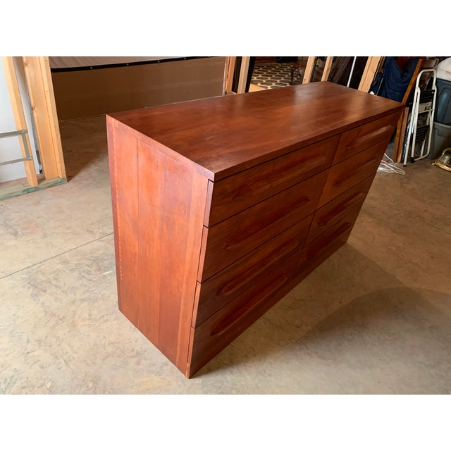 Mid 20th Century 20th Century Cherry Eight Drawer Dresser For Sale - Image 5 of 6