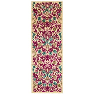 "Arts & Crafts Hand Knotted Runner - 2'6"" X 8'6"" For Sale"