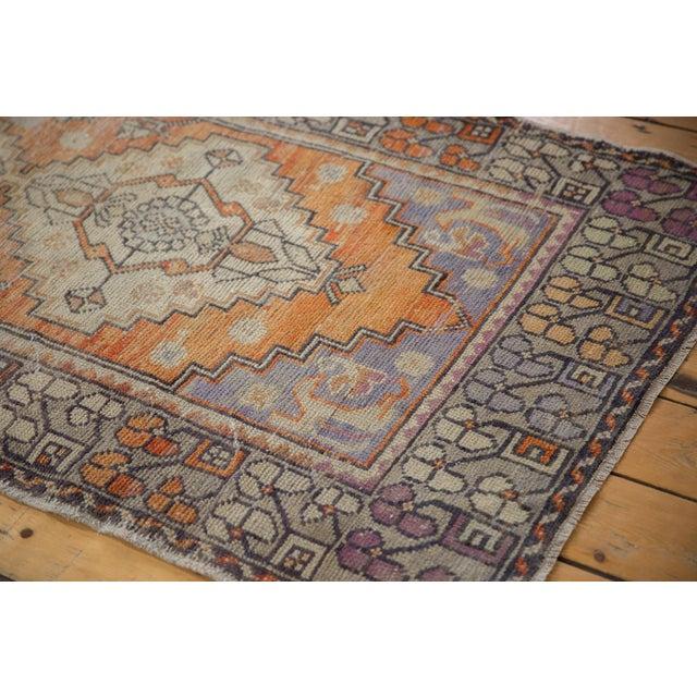 "Textile Vintage Distressed Oushak Rug Runner - 3'3"" X 10'2"" For Sale - Image 7 of 13"