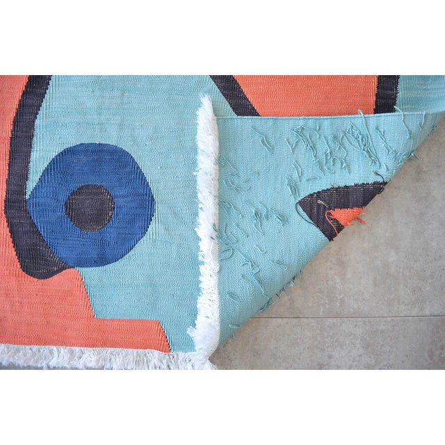 Paul Klee - Silence of the Angel - Inspired Silk Hand Woven Area - Wall Rug 4′7″ × 5′7″ For Sale - Image 9 of 11