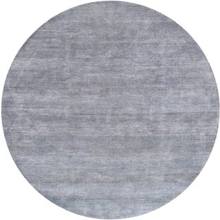 """Pasargad Gray Silk & Wool Rug - 8' 2"""" X 8' 2"""" For Sale"""