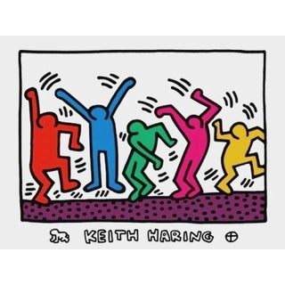 Untitled (Five Dancing Figures), Exhibition Poster, Keith Haring For Sale