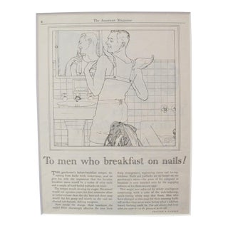"1920's Vintage Advertisement Ivory Soap - Magazine Page - ""To Men Who Breakfast on Nails"" For Sale"