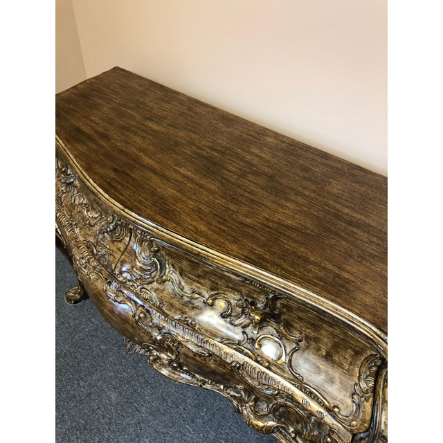 Gold Italian Carved Giltwood Bombay Chest Commode For Sale - Image 8 of 13