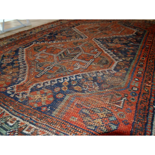 1910s Antique Persian Shiraz Rug - 3′9″ × 5′ - Image 10 of 11