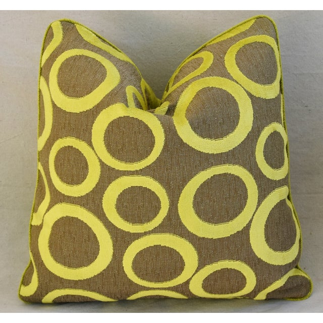 Hollywood Glam Lime Opuzen Cut Velvet Pillows - a Pair - Image 5 of 11