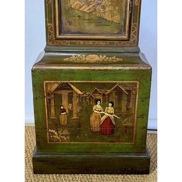 George III Chinoiserie Decorated Long Case Clock For Sale - Image 9 of 13