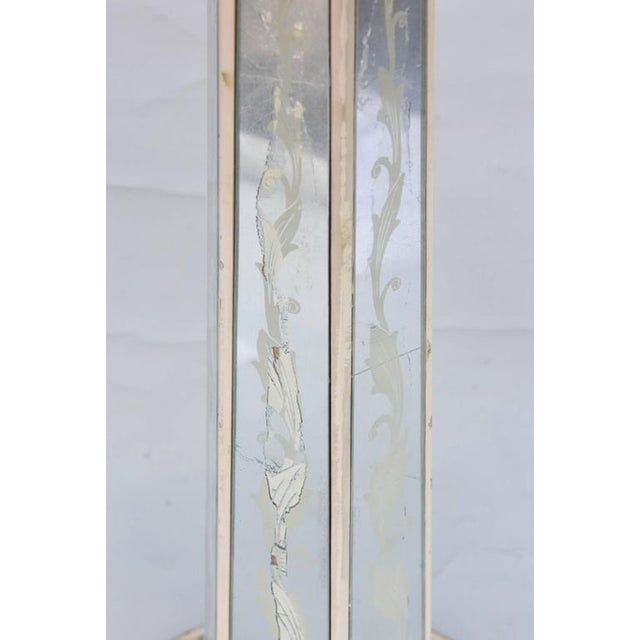 Italian Églomisé Occasional Pedestal Table For Sale - Image 10 of 12