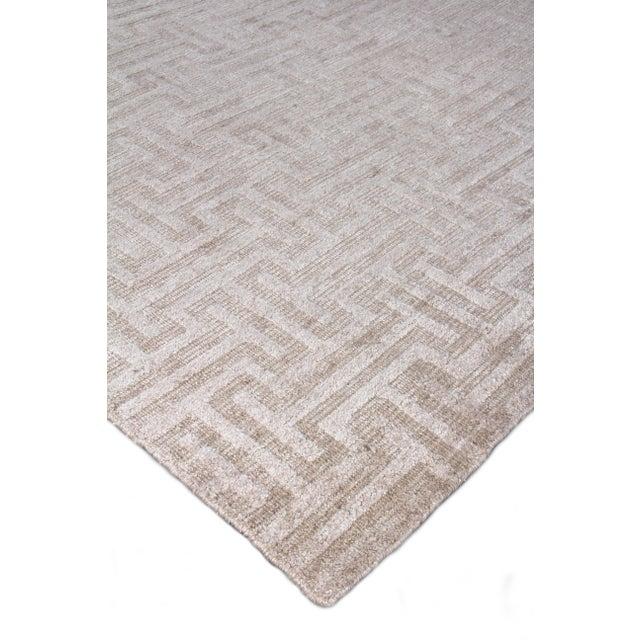 Textile Exquisite Rugs Bazas Handwoven Cotton & Viscose Beige - 12'x15' For Sale - Image 7 of 8