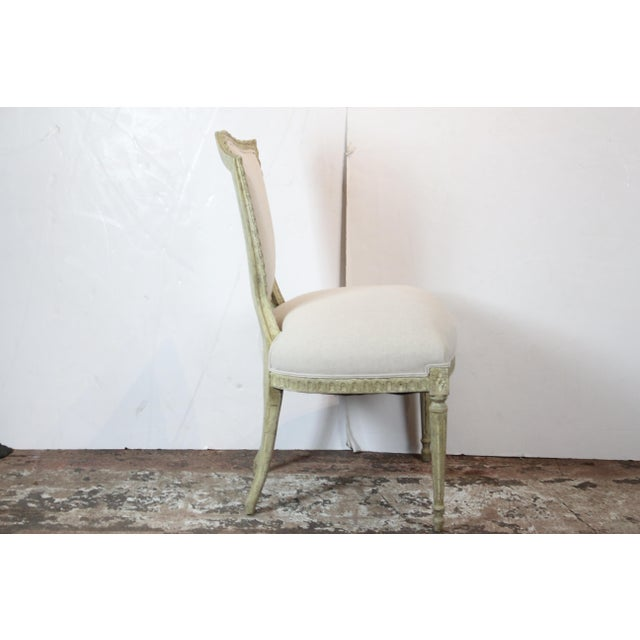 20th Century Louis XVI Style Off-White Side Chairs - a Pair For Sale - Image 4 of 6