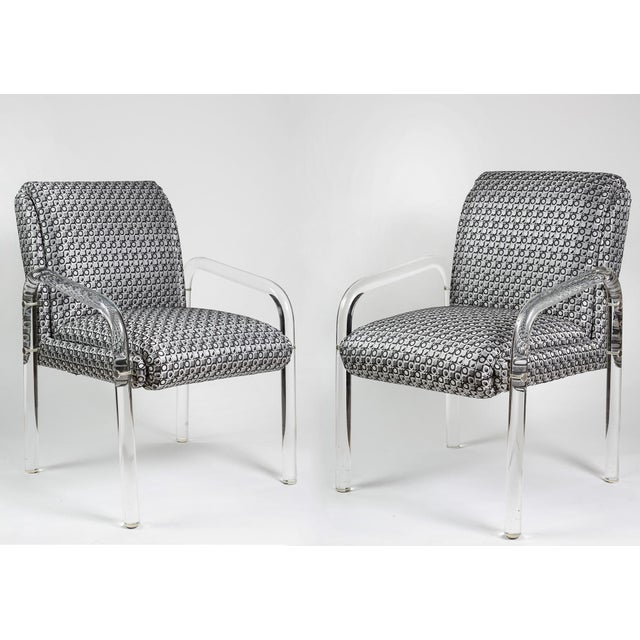 Charles Hollis Jones Style Lucite Armchairs - A Pair - Image 2 of 7