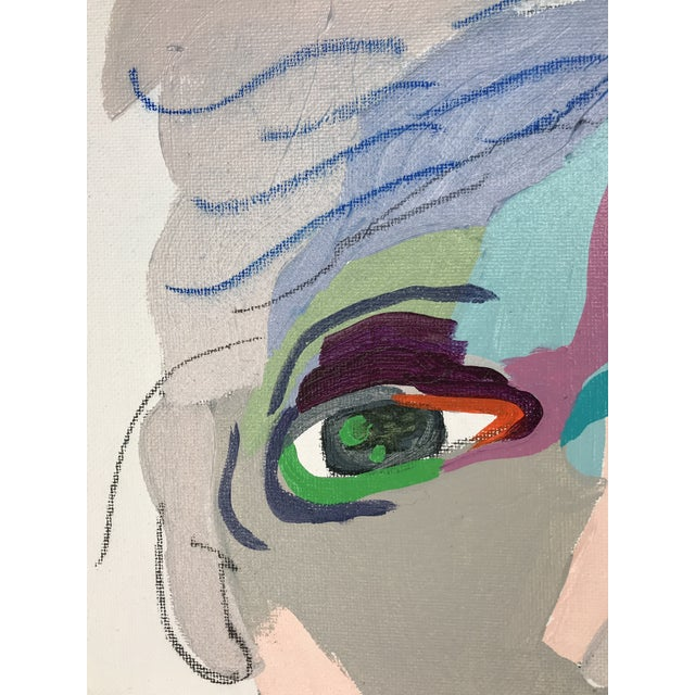"""Acrylic Paint Contemporary Abstract Portrait Painting """"From Another Perspective, No. 4"""" - Framed For Sale - Image 7 of 10"""