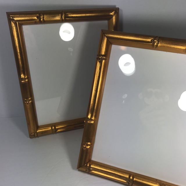 Pair of Gold Gilt Bamboo Frames For Sale - Image 11 of 11
