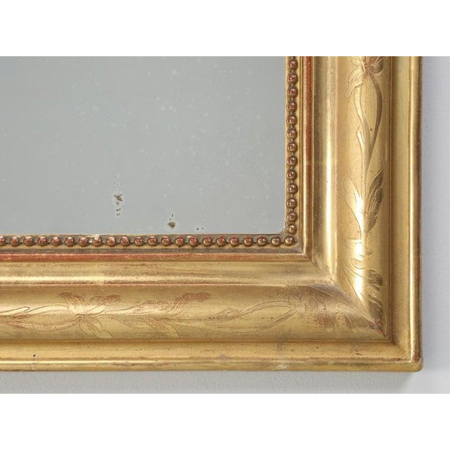 Gold Antique French Louis Philippe Mirror Original Gilding For Sale - Image 8 of 12