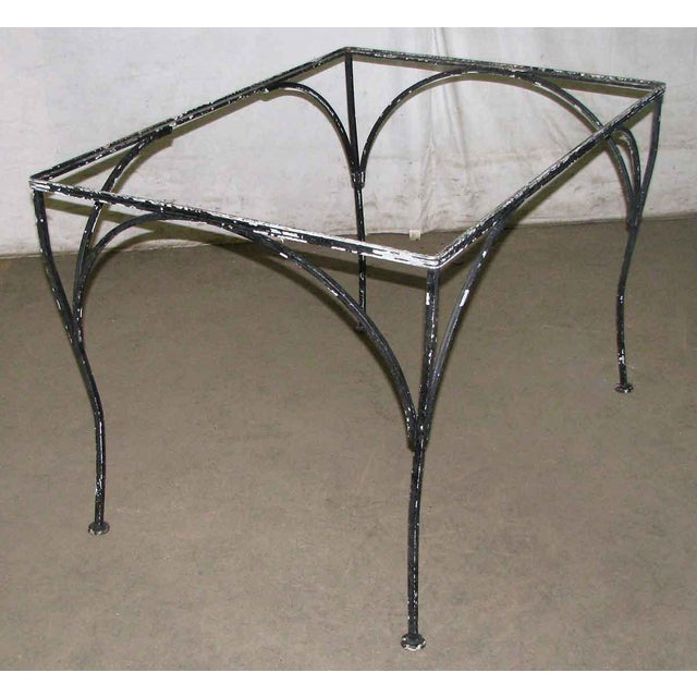 Black Wrought Iron Patio Table For Sale - Image 8 of 9