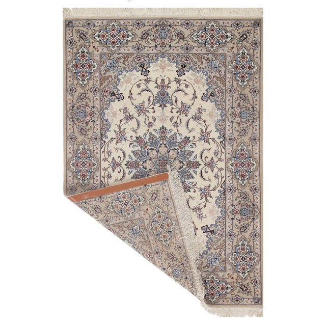 The Isfahan rugs are made with exceptionally good quality of wool & silk. They use traditional motifs inspired by...