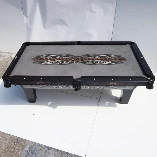 Harley Davidson Custom Pool Table - Image 2 of 8