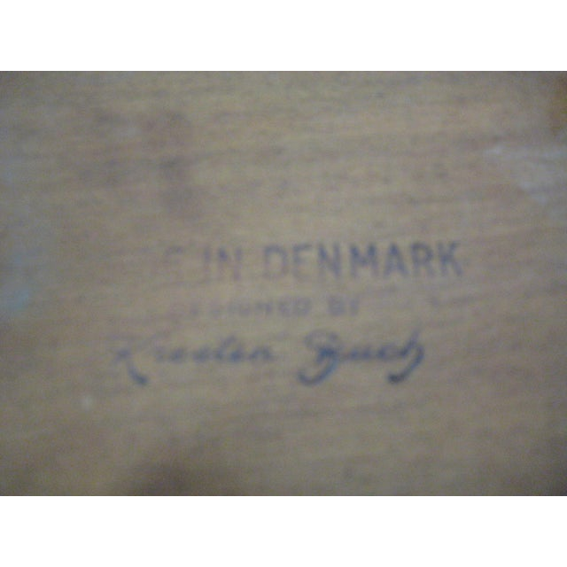 Wood Kresten Buch Danish Modern Guitar Pick Side Table For Sale - Image 7 of 7