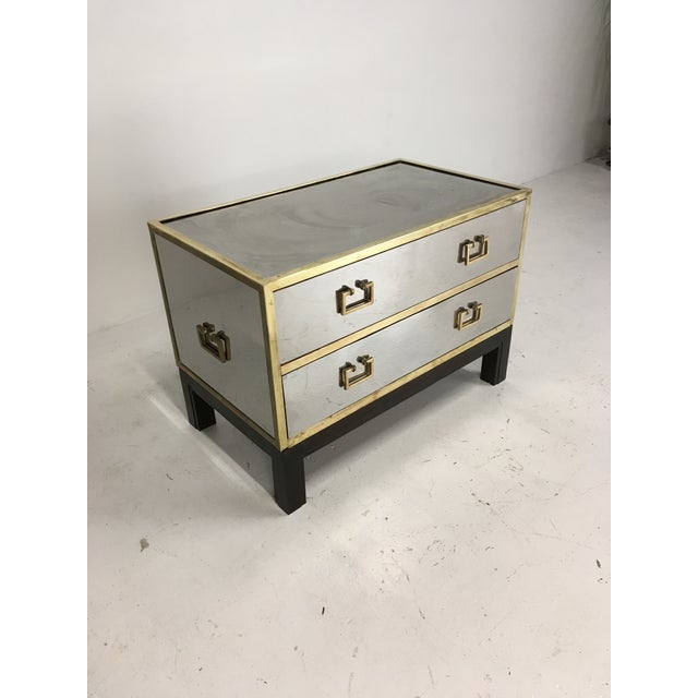 Silver Sarreid Gold and Silver Chest on Ebony Base For Sale - Image 8 of 8