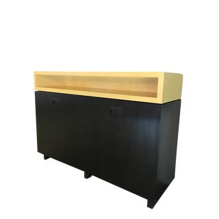 Modern Walnut & Sycamore Buffet For Sale