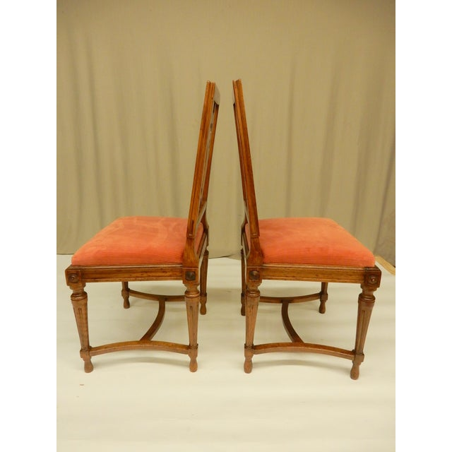 French 19th C. Louis XVI Walnut Dining Chairs - Set of 8 For Sale - Image 3 of 9