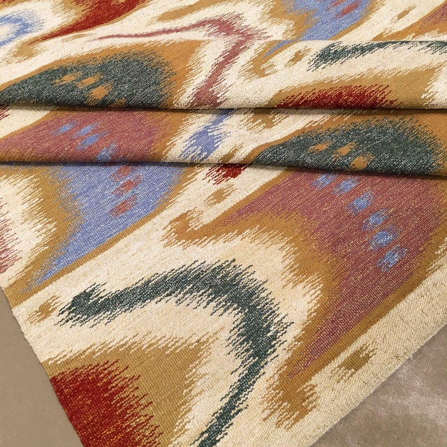 """2010s Ikat Flatwoven Rug-9'11"""" X 13'7"""" For Sale - Image 5 of 6"""