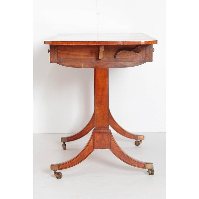 Early 19th Century English Regency Satinwood Sofa Table For Sale - Image 5 of 13