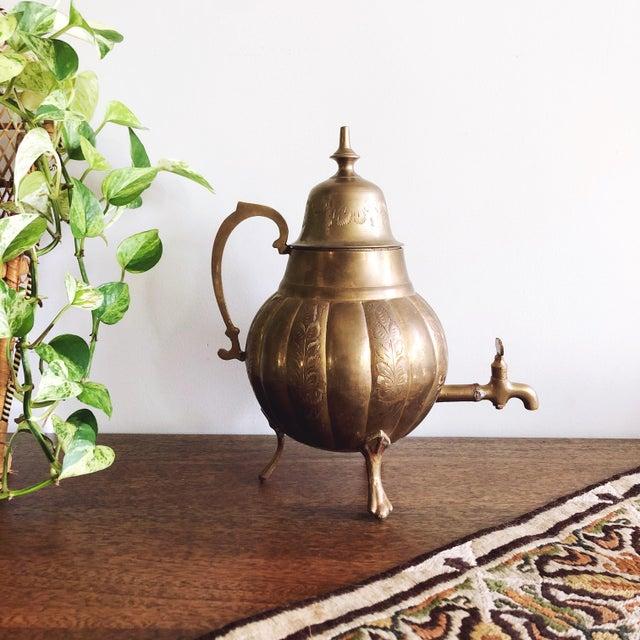 Vintage Brass Indian Samovar Tea Dispenser For Sale In Austin - Image 6 of 6