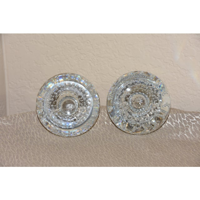 Mid-Century Modern Mid-Century Crystal Match Holder With Striker Marked Webb For Sale - Image 3 of 12