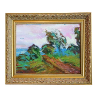 California Santa Barbara Landscape Oil Painting by Juan Guzman For Sale