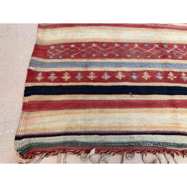 Textile Vintage Moroccan Tribal Kilim Rug, circa 1960 For Sale - Image 7 of 13