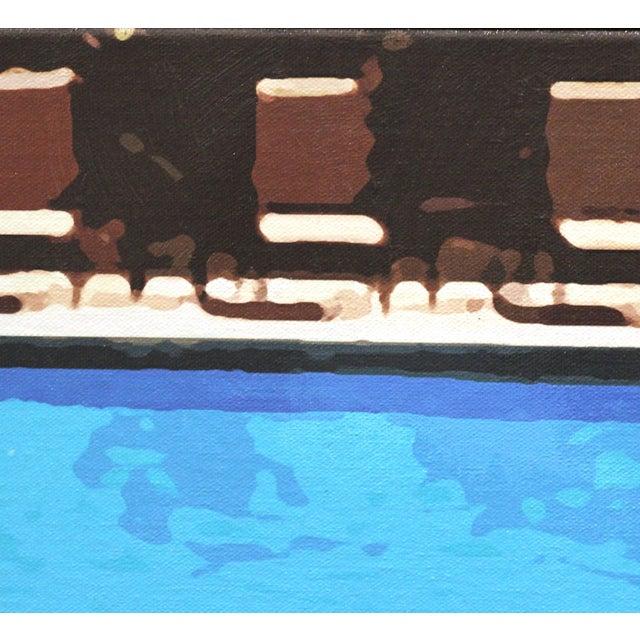 """Swimming Pool"" Acrylic Painting by Michael Giliberti - Image 10 of 10"
