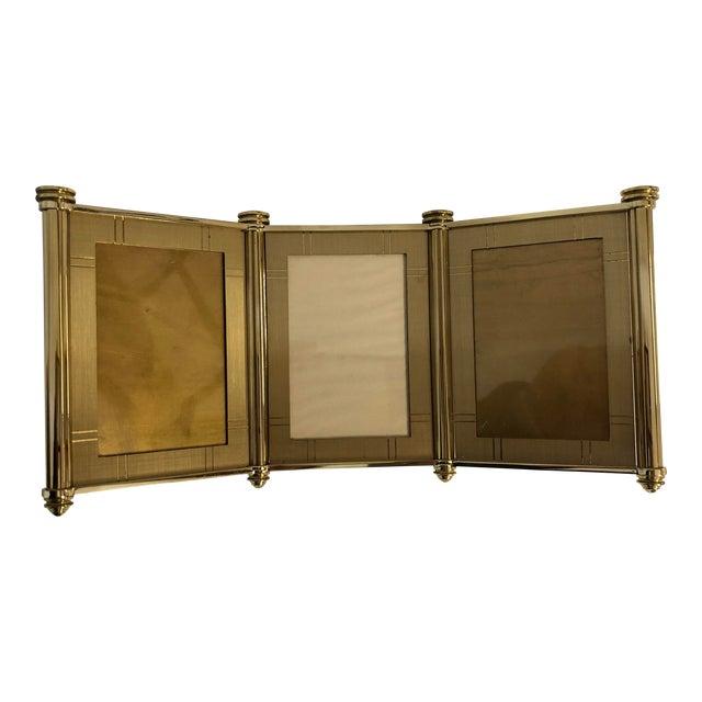 Swiss Made Machined Brass Tri Fold Frames Chairish