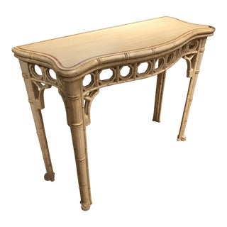 Vintage Faux Bamboo Painted Console For Sale