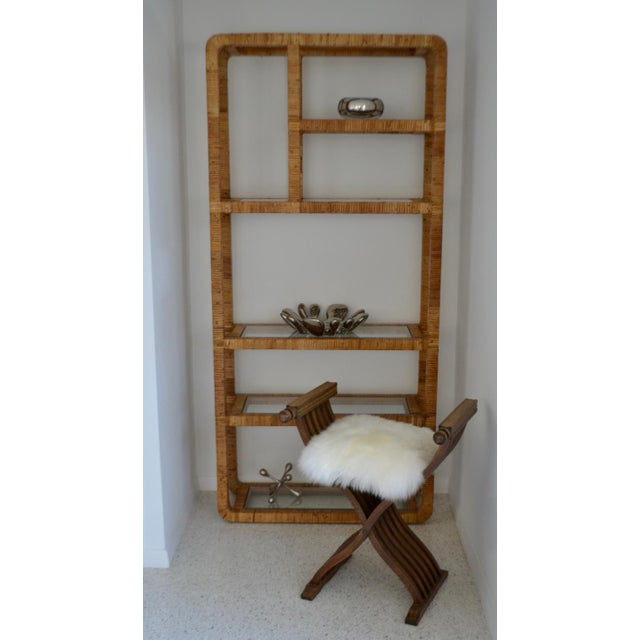 Mid 20th Century Mid-Century Rattan Bookcase For Sale - Image 5 of 13