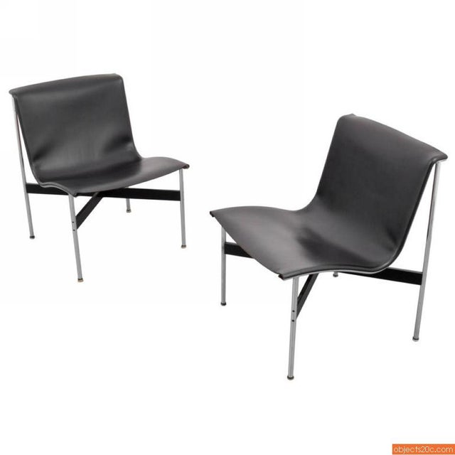 Pair of New York lounge chairs by William Katavolos, Ross Littell & Douglas Kelley for Laverne International.