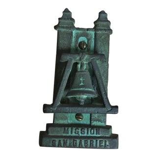 Vintage California Mission San Gabriel Souvenir Door Knocker For Sale