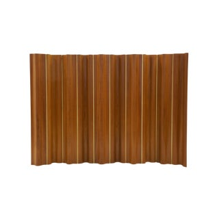 Ten-Panel Eames Folding Screen, FSW-10, in Teak for Herman Miller, Very Rare For Sale