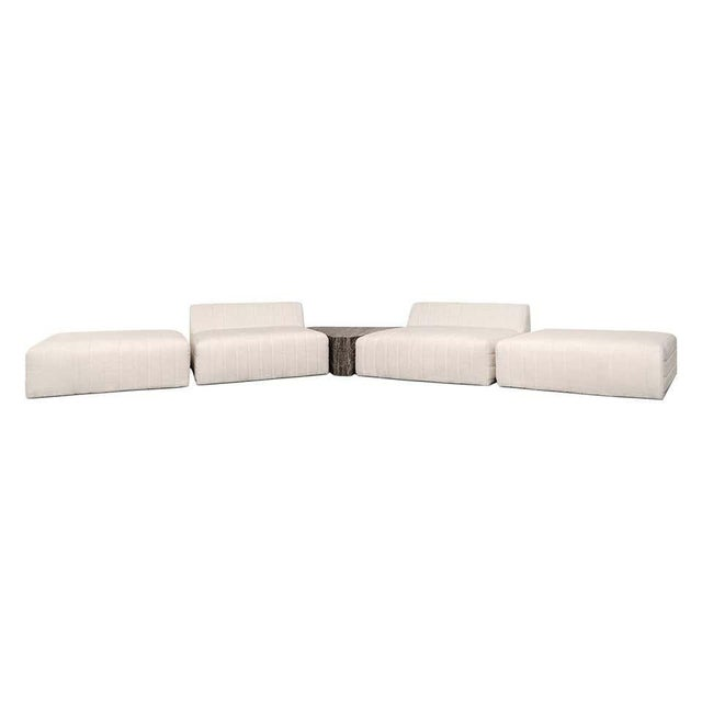 Oberon Cream and Brass Steel Sofa II Sectional by Atra For Sale - Image 6 of 6