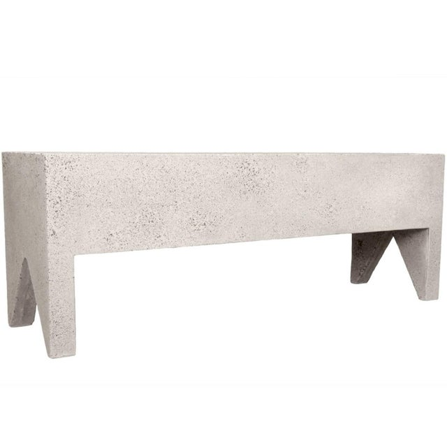 Plastic Cast Resin 'Farm' Bench, Natural Stone Finish by Zachary A. Design For Sale - Image 7 of 7